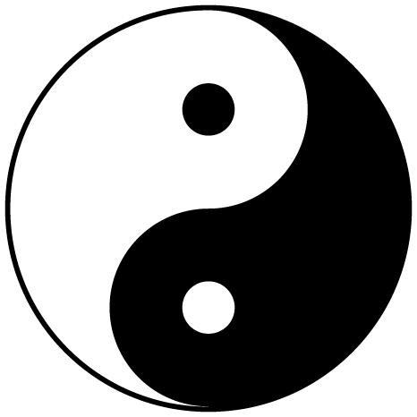By Gregory Maxwell - From File:Yin yang.png, converted to SVG by Gregory Maxwell., Public Domain, https://commons.wikimedia.org/w/index.php?curid=364239